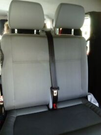 vw transporter T 5 front passenger double seat as new