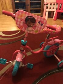 Disney Doc McStuffins pink child's bike barely used