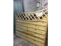 NEW DECORATIVE FENCE PANEL TREATED 6FTX5FTX4FT