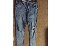 Size 16 women's ripped knee jeans