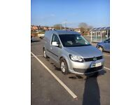 VW Caddy Van C20 TDI 1.6 (102) 2010, Silver, DAB Radio, NO VAT, Ply lined, LED loading lights
