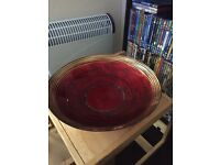 Red glass bowl from next £5