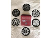 Welsh Slate Coasters With Celtic Designs