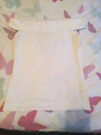 White top h&m size small
