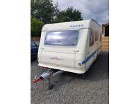 5 berth caravan fixed bunk beds adria altea 502