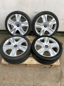 "18"" Ford transit alloy wheels with tyres 5x108"