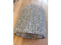 Clear glass bead lampshade.