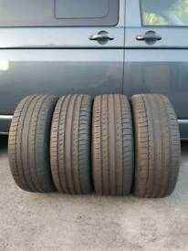 Set of four part worn 245 45 20 Michelin latitude sport tyres