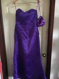 Cadburys purple bridesmaid dress