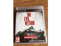 The evil within game PlayStation 3