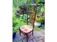 UNUSUAL VINTAGE NURSING CHAIR.