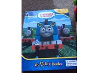 Thomas the tank book with trains and mat