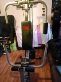 multi gym and dumbbells