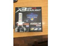 H7 LED HEADLIGHT KIT 6000lm 50w