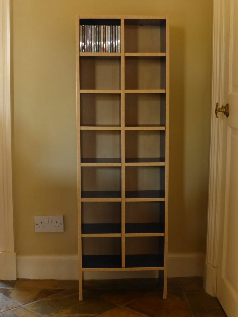 useful blue birch ikea robin cd storage shelving rack tower in edinburgh gumtree. Black Bedroom Furniture Sets. Home Design Ideas