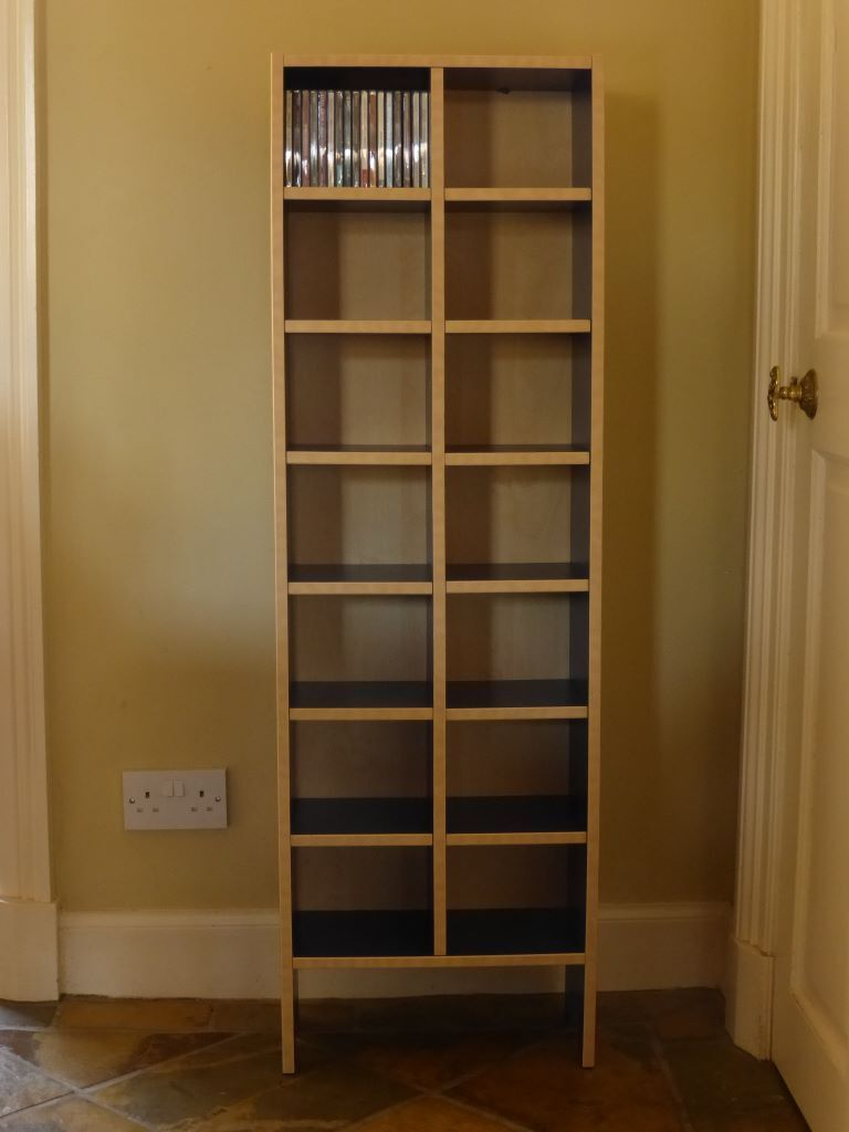 Ikea Poang Chair Gumtree Edinburgh ~ USEFUL BLUE & BIRCH IKEA 'ROBIN' CD STORAGE SHELVING RACK  TOWER