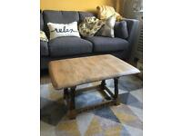 Retro Oak Folding Coffee Table