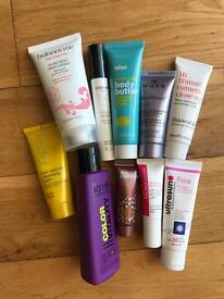 Assorted beauty products