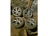 MG 18inch alloys. Nearly new tires 5x100
