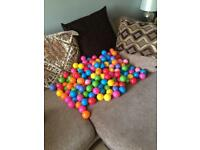 Soft play colourful plastic balls