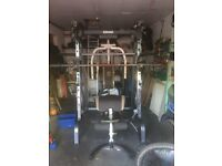 Marcy MD9010G Deluxe Smith Machine Home Multi Gym with 150kg weights, Olympic Bar & Oympic dumbells