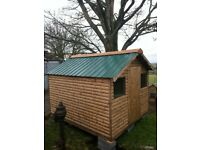 garden sheds ( Sheds ) 8x8 log Board £420