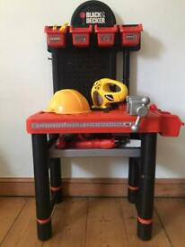 Black & Decker Toy Tool Bench with toy power tools