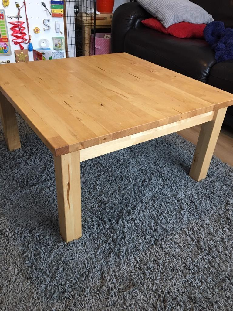 Ikea Norden Large Coffee Table Solid Wood