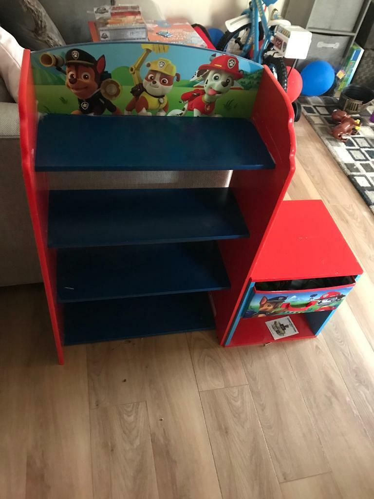 Kids Paw Patrol Bookshelf