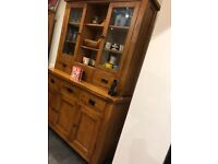 Glass display unit and sideboard
