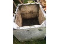 Galvanised steel tank