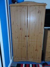 Pine Effect 2 Door Wardrobe