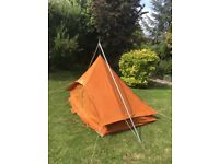 Blacks 3-4 person A frame all weather tent with canvas and extended fly sheets