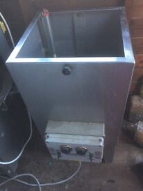 Poultry plucking machine and scalder