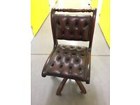 Leather antique replica Chesterfield chair