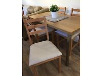 4 x IKEA LERHAMN Dining Chairs