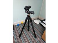 Tripod Manfrotto 055XPROB and Head 804RC2 for sale together or seperately