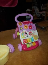 Fisher price hourse and vtech walker