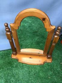 Ducal pine dressing table mirror