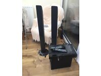 TV Receiver, x2 speakers and bass unit
