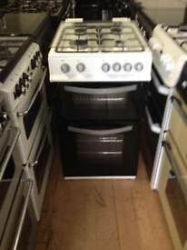 Black/white 50cm gas cooker (glass lid)