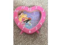Disney Princess heart clock