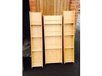 3 x standing ladder shelves