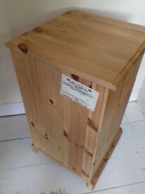 nicholls furniture victorian style matching pair pine chest drawers