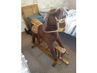Mamas and Papas Wooden Rocking Horse. In great condition, with all original features