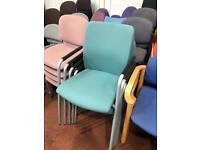Green Stacking High Back Conference Chairs