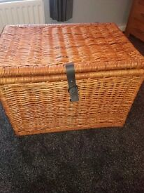 large wicker chest trunk collapsible