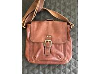 Fossil leather decker bag