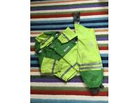 Children waterproof jacket and trousers. 100cm