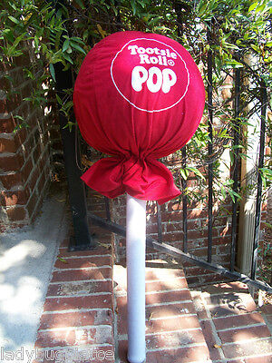 GIANT 3 FEET RED PLUSH TOOTSIE ROLL CANDY POP PILLOW